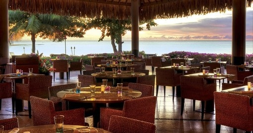 Have a delicious meal at Miti Mahana Restaurant during your next trip to Tahiti.