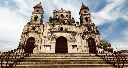 Granada's colonial architecture provides a great photo opportunity during your Nicaragua vacation