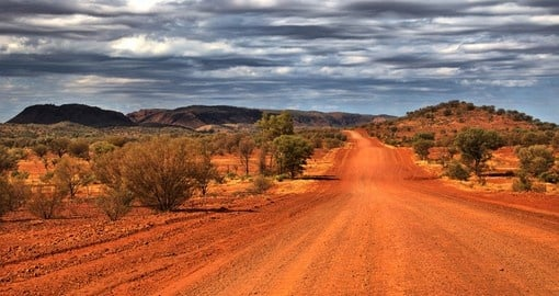 Outback scenery in the Red Centre near Alice Springs