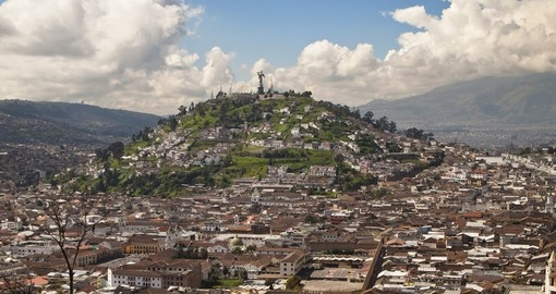 A monument to the Virgin Mary in Quito