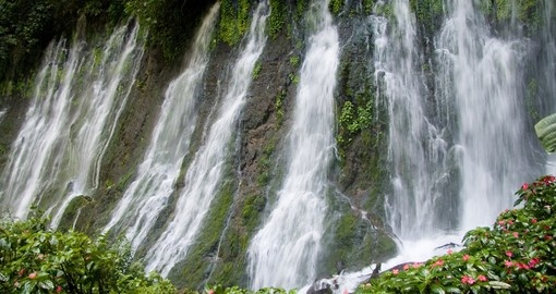 The large waterfalls of Juayua