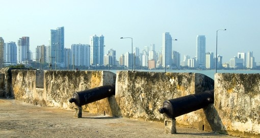 Cartagena in Colombia is one of the cities visited during your Panama vacation.