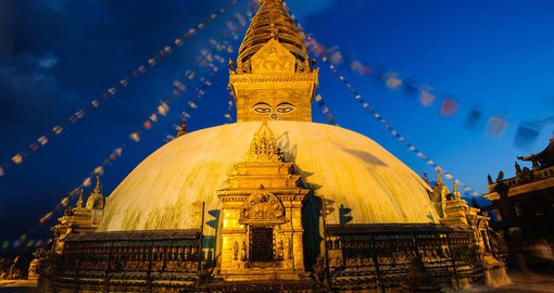 Swayambhunath Monastery is one of the holiest Buddhist stupas in Nepal