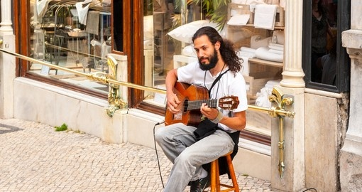 Music on the streets of Lisbon