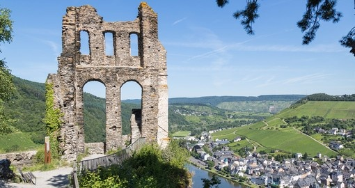 Ruins of a castle along side Moselle River