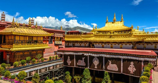 Jokhang Temple in Lhasa is the spiritual center of Tibet and the holiest destination for all Tibetan pilgrims
