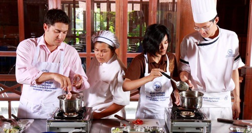 Release your inner chef during a cooking class at Blue Elephant Cooking School