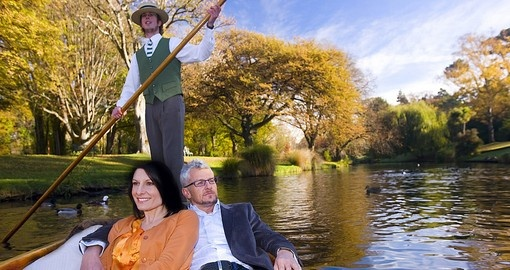 Punting on the Avon River - one activity that should be included on all New Zealand tours