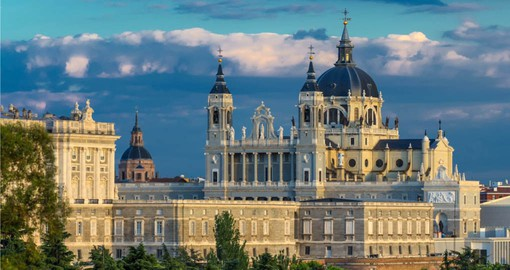 Explore Santa Maria la Real de la Almudena Cathedral and the Royal Palace during your next  Spain holiday.