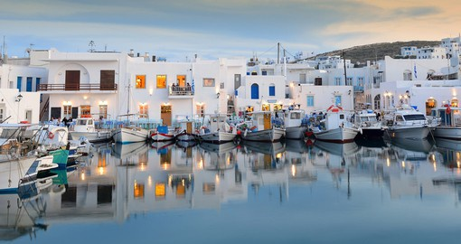 Wander around Naousa Port and explore the coastal town of Paros on your Greece Vacation