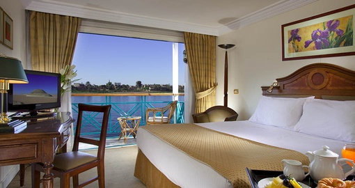 Relax in your comfortable cabin on your Egypt tour