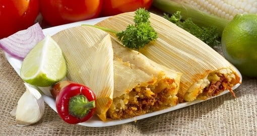 Tamales wrapped in corn husk