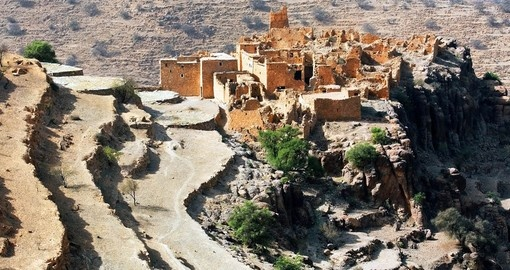 A Moroccan kasbah in the Atlas Mountains