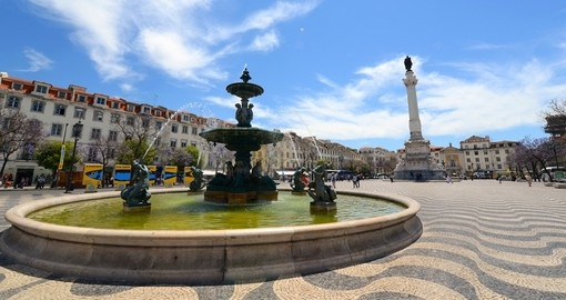 Statue of Dom Pedro IV and The Bronze Fountain are always popular photo opportunities while on your Portugal vacation.