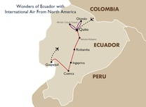 Wonders of Ecuador with International Air From North America