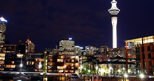Experience Auckland City at night during your New Zealand tours.