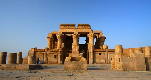 Dedicated to Sobek and Horus the Elder, the Temple of Kom Ombo has two identical entrances