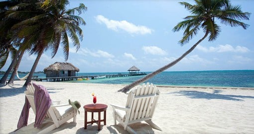 The Victoria House has a private beach to enjoy on your Belize vacation
