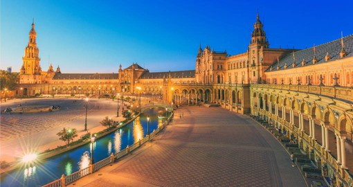 A highlight of most Spain tours is a visit to the Plaza de Espana in Seville