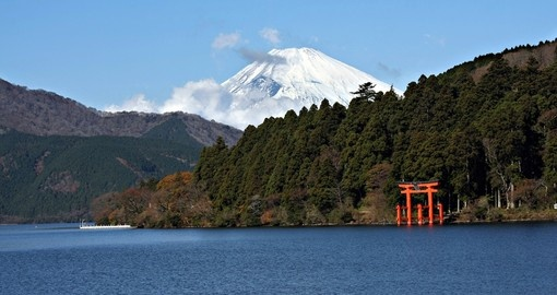 Lake Ashi, which is surrounded on all sides by mountains is the perfect nature retreat for one of your Japanese Tours