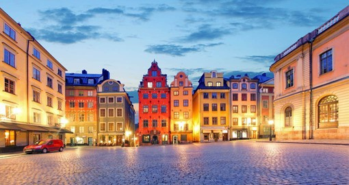 Stortorget, the main square in the old town has the most photographed buildings in Stockholm