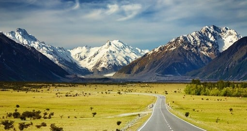Explore the Southern Alps on a self drive trip when you book one of our New Zealand vacations.
