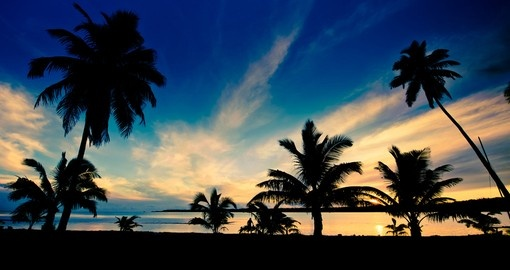 Beautiful Aitutaki Lagoon Sunset