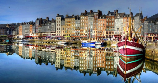 The pretty coastal town of Honfleur, Normandy.