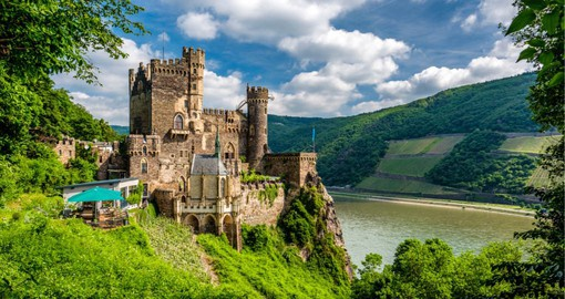 The Rhine Gorge, a 65 km stretch of the river is perhaps Germany's most dramatic landscape