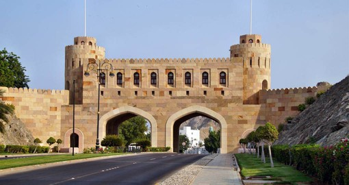 Muscat Gate used to act as an official gate for the old city of Muscat