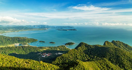 Aerial view of Langkawi in Malaysia