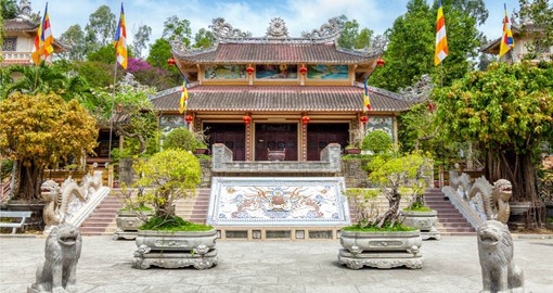 Continue your Vietnam tour package to Nha Trang and the picturesque Long Son Pagoda