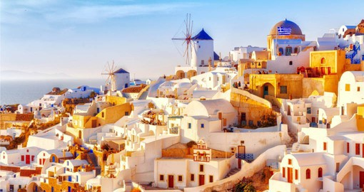 Continue your Greece vacation with a visit to Oia on the island Santorini
