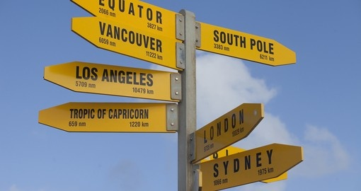 You will see a lot of signposts on your drive during your next New Zealand tours.
