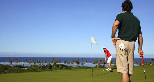Experience the joy of playing golf at the InterContinental Fiji Golf Resort & Spa during your next Fiji vacations.