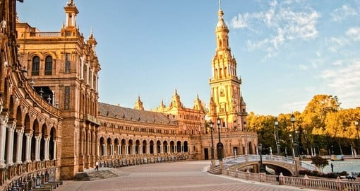 Visit Plaza of Spain in Seville during your next Spain holidays.