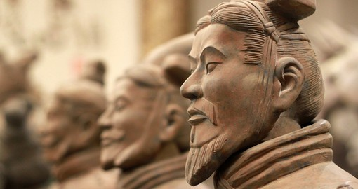 Be awestruck by the imposing Terracotta Warriors of Xian on your China tour