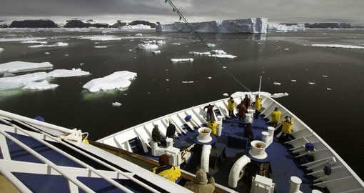 Dissect immense ice fields while cruising through the Antarctic waters on your Antarctica Tours