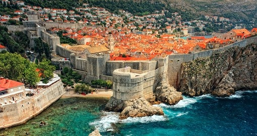 Enjoy amazing view of the ancient castle of Dubrovnik on your next Europe vacations.