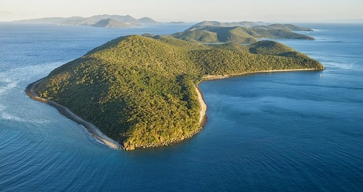 Aerial view of Orpheus Island off the coast of North Queensland