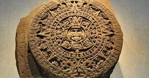 View an Aztec Calendar Stone on your Mexico Vacation
