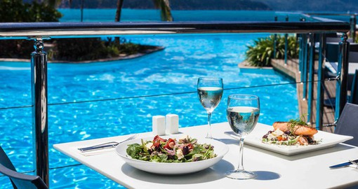 Casual to fine dinning is available on Hamilton Island