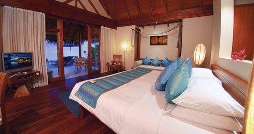 Wake up to the sunrise ever morning while you stay at the Anantara Dhigu on your Maldives Vacation