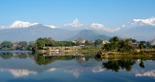Admire the vast array of natural landscapes that surround the city of Pokhara, Nepal on your Nepal Vacations