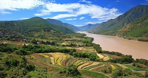 Fertile agricultural land alongside the Yangtze River