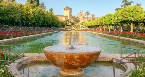 The Alcazar, features a castle with it's delightful gardens