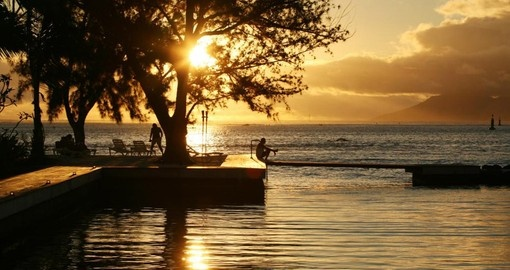 Watch sunrise from your suite at Manava Suite Resort during your next Tahiti vacations.