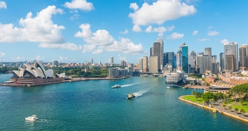 Circular quay and The Opera House - two of the best photo opportunities on all Australia vacations.