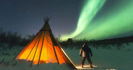 Magical Northern Lights during your Swedish vacations.