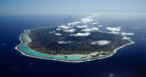 Rarotonga from the sky
